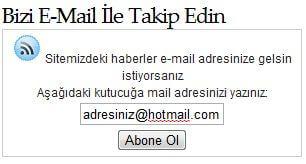 Haberlerimizi E-Posta İle Takip Edin.