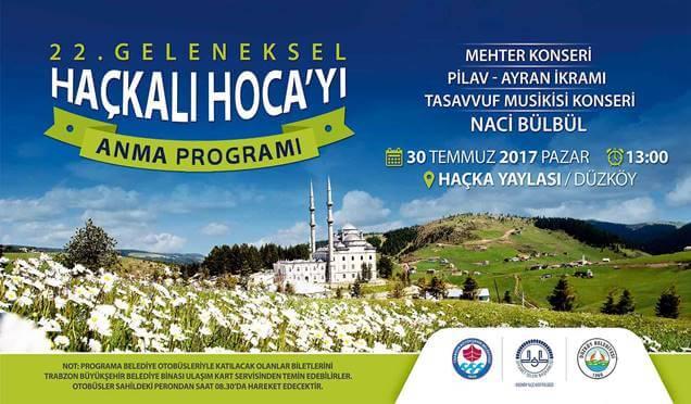 Haçkalı Hoca'yı Anma Etkinliği 30 Temmuz Pazar günü yapılacak Haberi