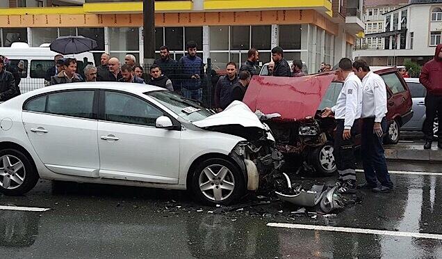 Akçaabat'ta trafik kazası Haberi