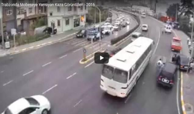 Trabzon'da Mobese kameralarına yansıyan kaza görüntüleri Galerisi